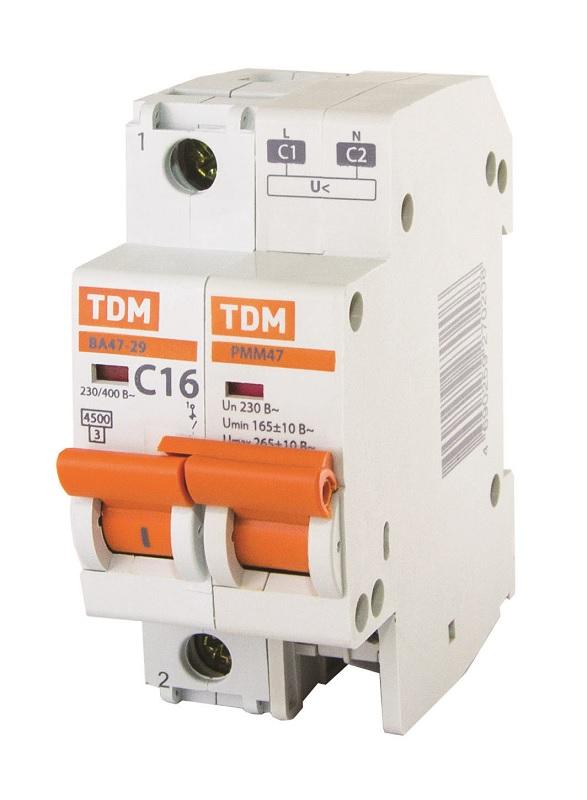 Монтаж с автоматическим выключателем ВА47-29 ТДМ