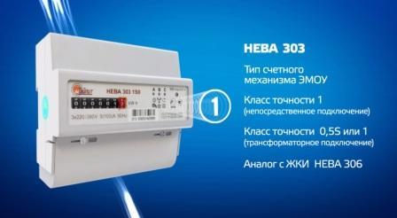 Счетчик НЕВА 303 технические характеристики, описание
